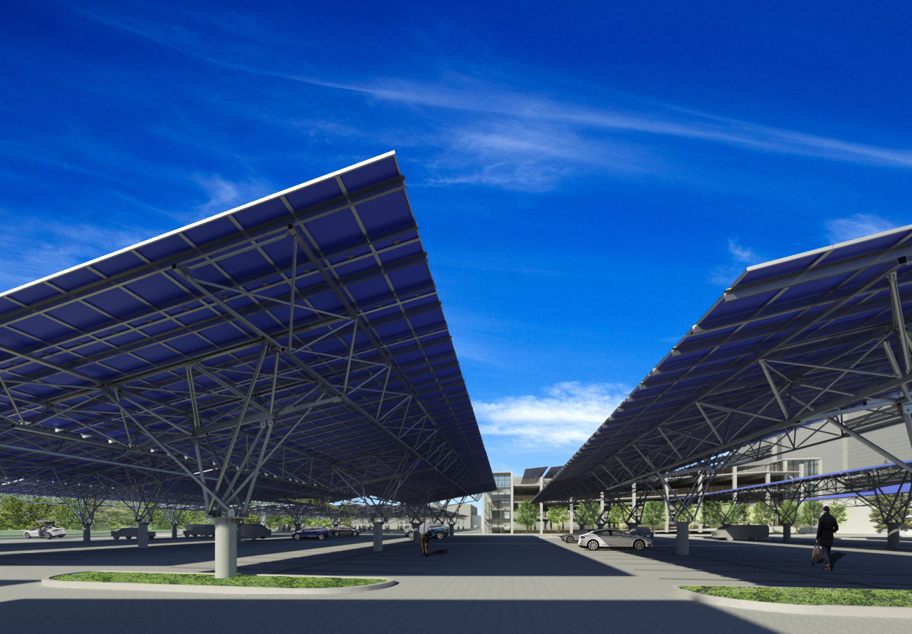 cantilever solar carport