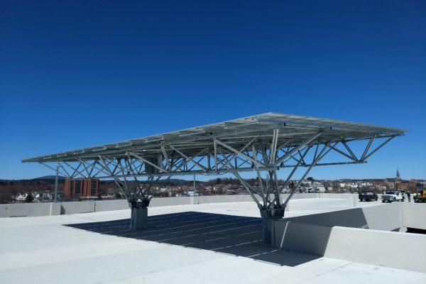 QuadPod solar canopy