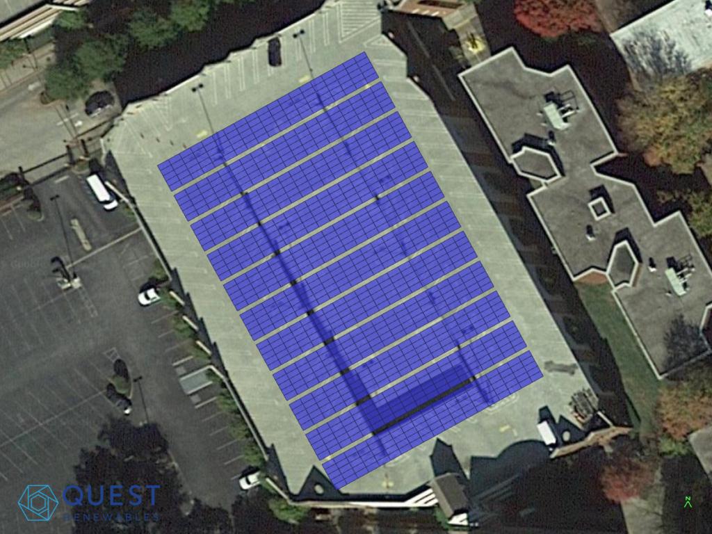 Long Span Parking Garage Layout for solar carport