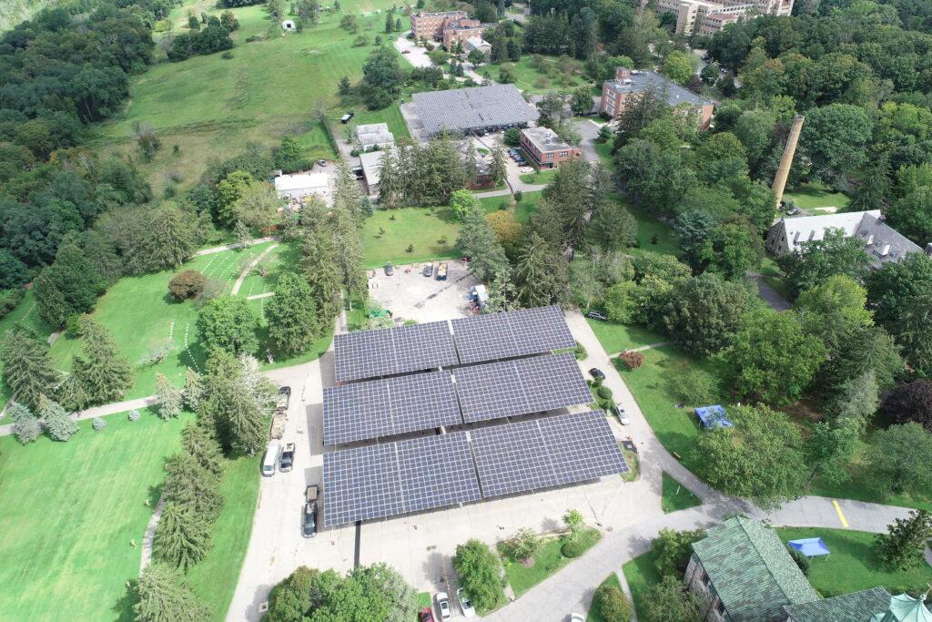 QuadPod Solar Canopies in Ossining NY